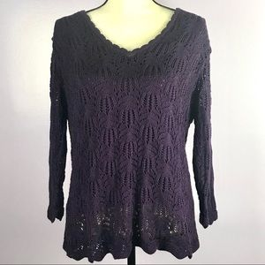 Cato XL Purple Knitted Sweater Top